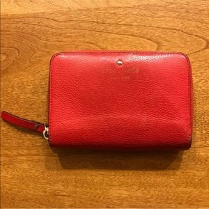 Kate Spade Cobble Hill Asby Wallet in Geranium